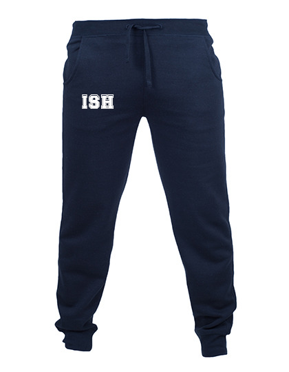 Slim cuffed sweatpants, males - navy - size S-XXL