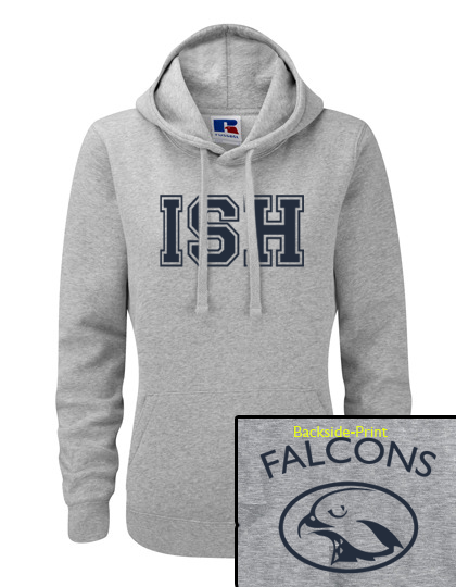 Sporthoodie women (Size XS-XL) - 80/20 in navy and heather grey