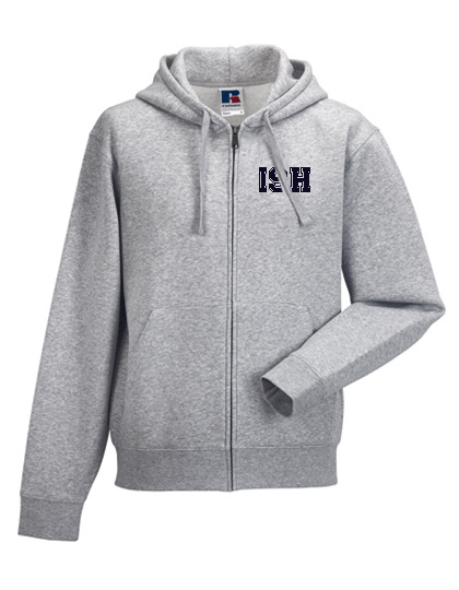 NEW Men`s Zipped Hood Jacket - (Size. XS - XXXL) - 80/20 (navy + heathergrey)