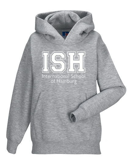 Hoodie Kids - unisex (Size 116-152) 80/20 in navy and heather grey