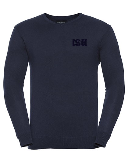 Men`s V-Neck Knitted Pullover (navy)