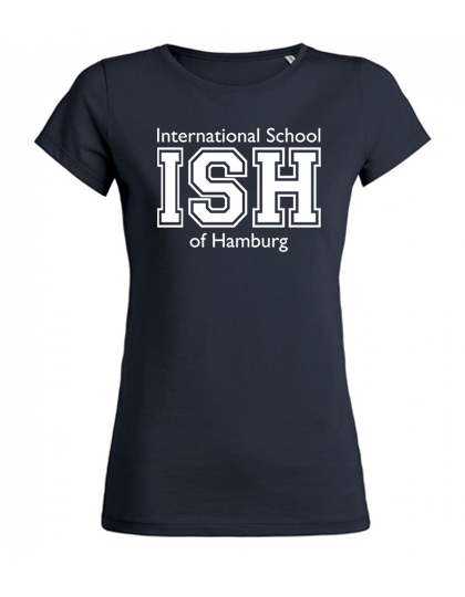 T-Shirt women (Size XS-XXL)  100% Bio-Cotton (navy, heather grey, white)