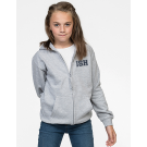 NEW Zip-Hoodie Kids - unisex (Size 116-152) 80/20 in navy and heather grey