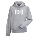 Hoodie - unisex (Size XS-XXXL) - 80/20 navy and heather grey