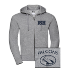 NEW Sport-Zip-Hoodie unisex (Gr. XS-XXXL) - 80/20 in navy and heather grey