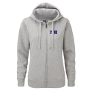 NEW Ladies Zipped Hood Jacket - (Size. XS - XL) - 80/20 (navy + heathergrey)